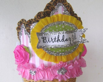 Birthday Party crown, BIRTHDAY GIRL or CUSTOMIZE, adult or child