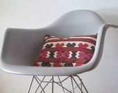 SALE vintage geometric hand woven pillow cover