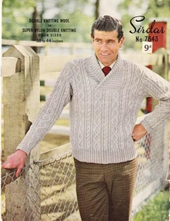 Vintage 1950s Sirdar Knitting Pattern No 7843 by Boxofmisc