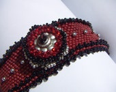 Beaded Bracelet with an Indian Silver Bead
