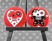 Sugar Skull magnets - Day of the Dead magnet set
