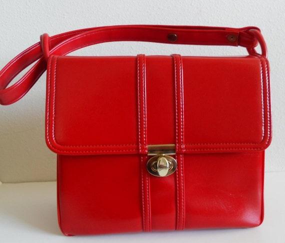 Bright Red Vintage Purse
