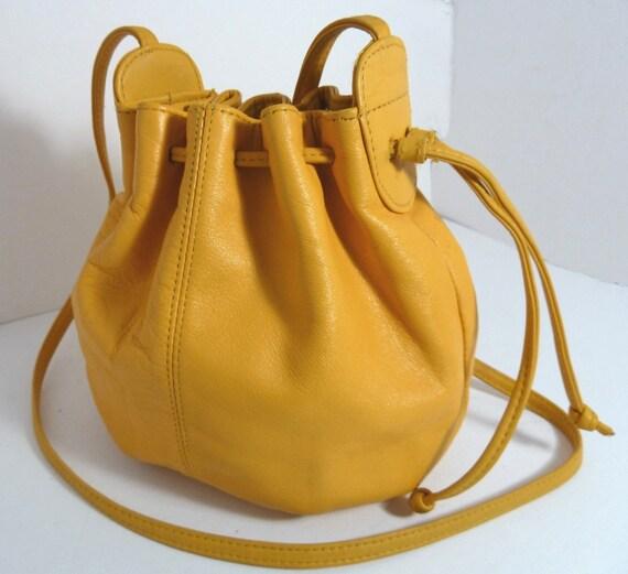 Yellow Drawstring Small Bag