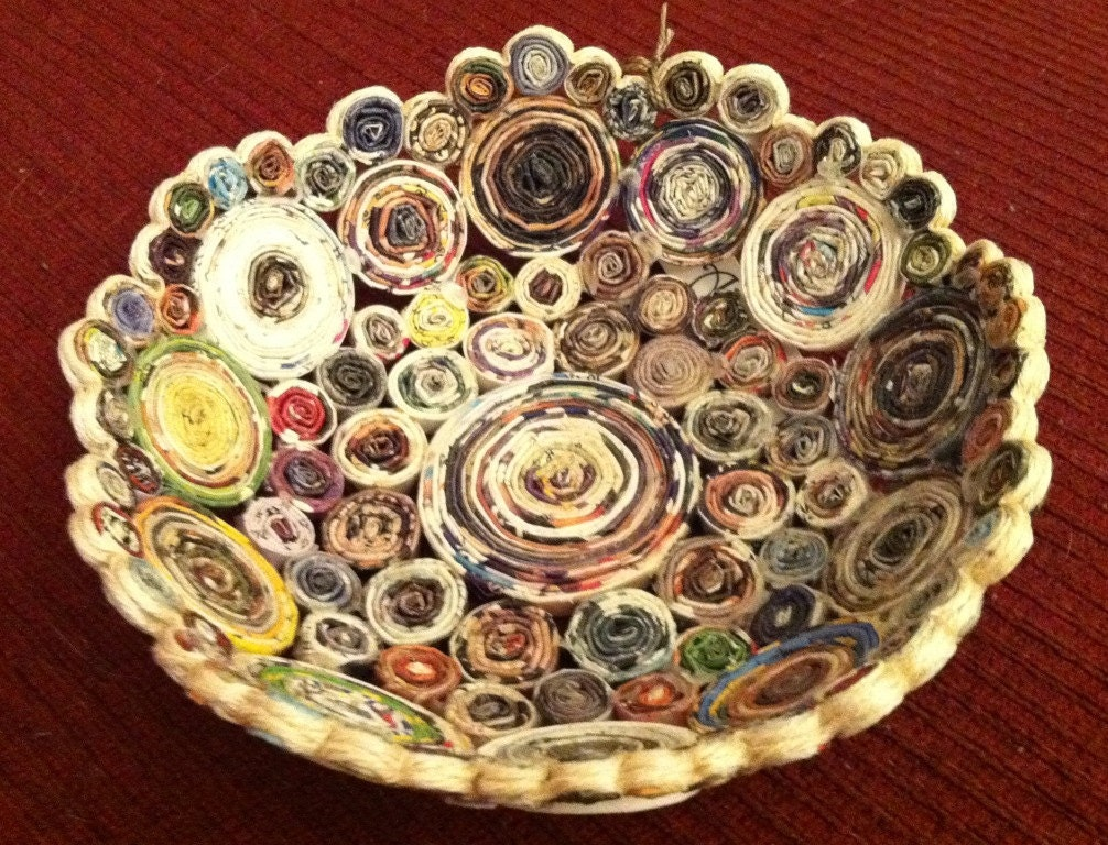 Handmade Paper Basket Dailymotion : Lucinda handmade coiled recycled paper basket