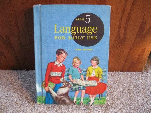 Adorable Antique 1950's School Text Book