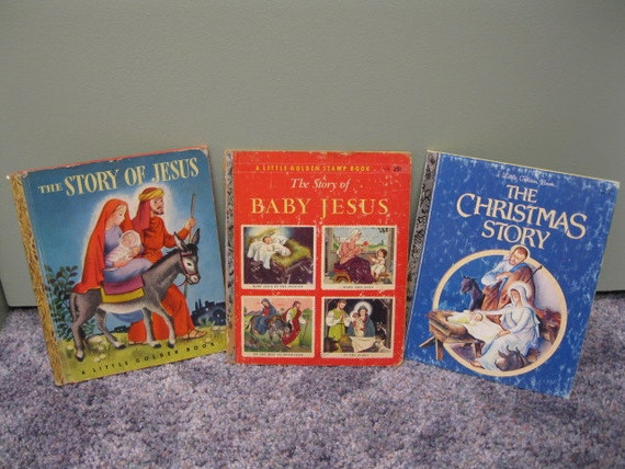 3 Little Golden Books about  Baby Jesus