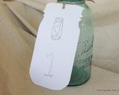 Table Numbers Wedding Reception Extra Large Mason Jar Tags (set of 2)