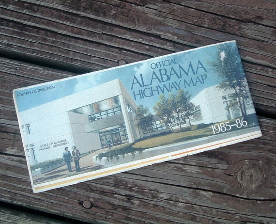 Alabama Vintage 1985-86 Highway Map