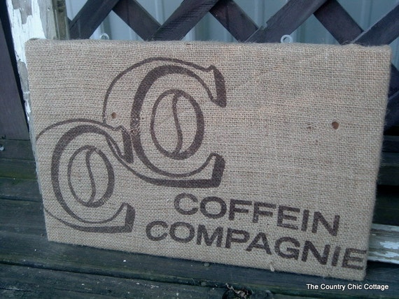 Coffee Bag Cork Bulletin Board Office Decor Coffee Couture Frame