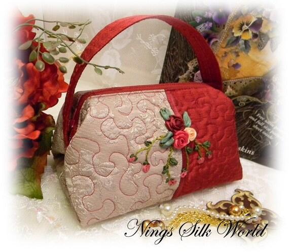 Ribbon Embroidery Bags | Makaroka.com
