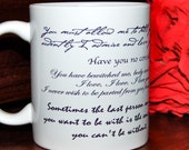Jane Austen Wrap Around Quote Mug including Pride and Prejudice, Persuasion and Jane herself