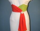 Polka Dot Wiggle Dress-Pinup-Wedding Guest Dress Custom Made