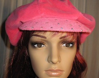 Hot Pink Terry Newsboy Criscap