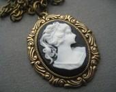 Victorian Cameo Necklace - Portrait Cameo - Small