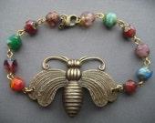 Beaded Bee Bracelet