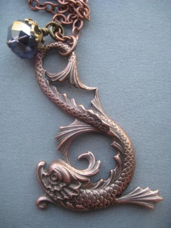 Mythical Koi Fish Necklace