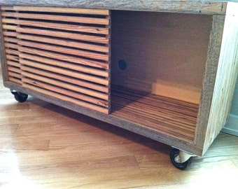 reclaimed wood tv stand storage unit media stand with sliding doors media console