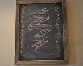 Large Barn Wood Chalkboard - Reclaimed Wood- Free Shipping