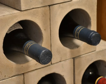 Concrete Wine Bunker Set of 4- Free Shipping, Wine Rack, Wine Storage, Wine Gift