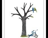 Childs First Birthday Keepsake Fingerprint Tree DOWNLOAD PERSONALIZED FILE 11 x 14