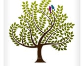 Wedding Signature Tree Leaves Guest Book Alternative 17 x 22- Choose your custom color and font