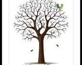 Wedding Guestbook Tree Poster PRINTABLE PDF FILE Small-Medium-Large