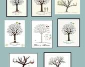 Digital File Wedding Tree (p d f ) POSTER FILE-  (CHOOSE) Your Design Color Size