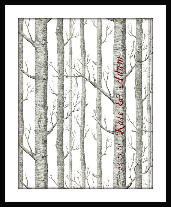 Forest of TREES Wedding Poster PRINT 11 x 14