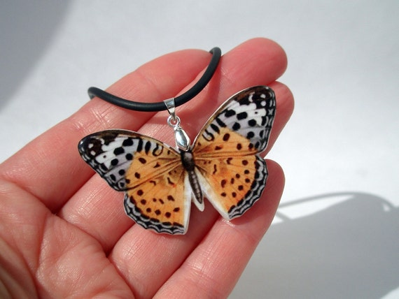Butterfly Polymer Clay Necklace