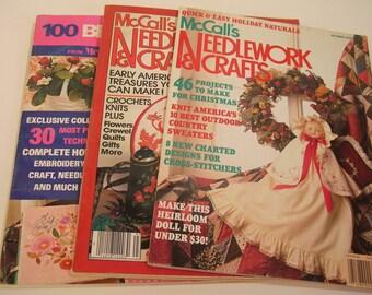 Three Vintage Needlework And Crafts Magazines
