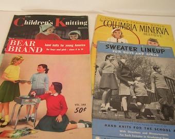 Four Vintage Kids Needlework Magazines