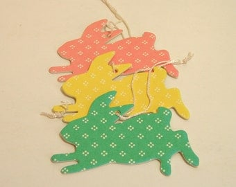 Paper Rabbits Ornaments
