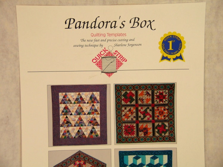 Pandora S Box Quilting Templates By Fabricandcrafts On Etsy