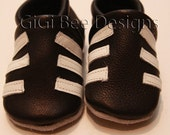 Soft Sole Leather shoes..The Soccer Shoe .....GiGi Bee Designs