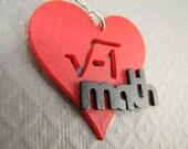 Math Necklace - I heart Math Pendant
