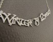 Winter is Coming Necklace Game of Thrones Necklace in Snow White