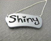 Shiny Necklace in Silver Color Science Fiction Necklace