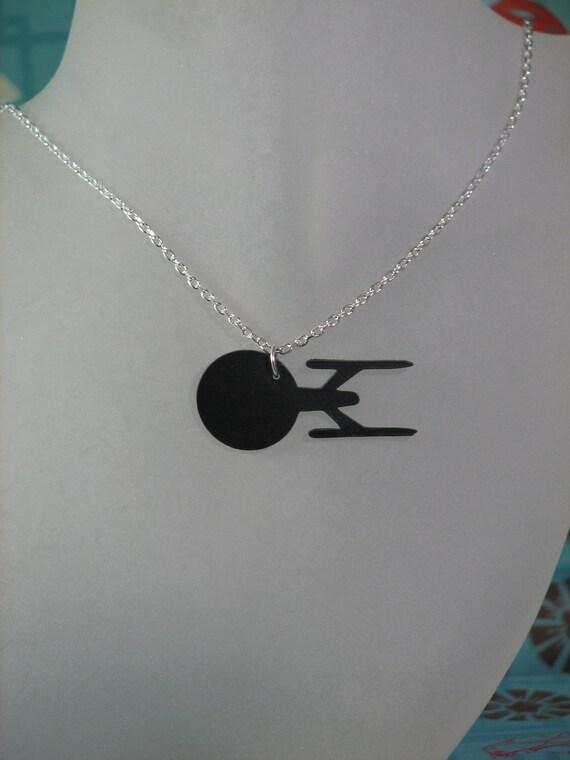 Star Trek Starship USS Enterprise Inspired Pendant Necklace