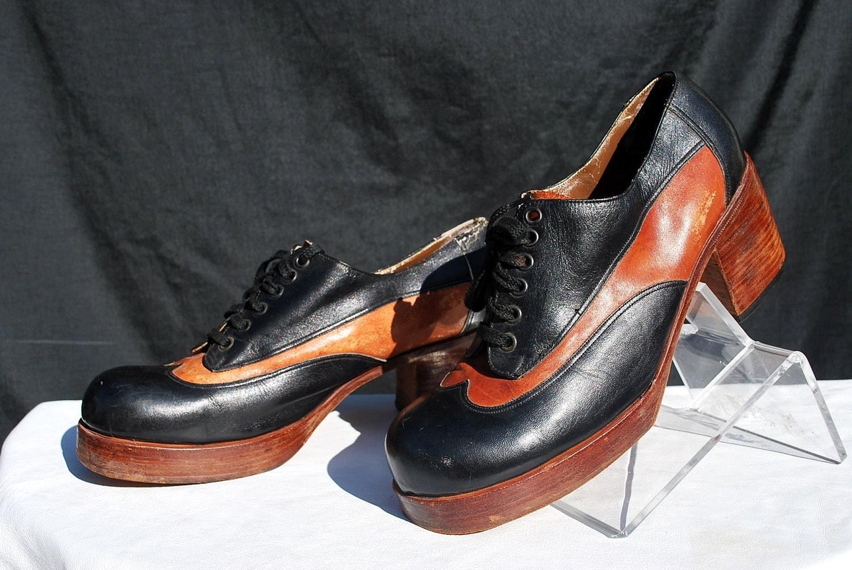 vintage 70 s s platform shoes size 9 1 2 disco