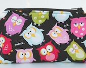 Anything Goes Pouch- Snoozing Owls with Zipper
