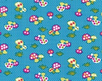 Michael Miller Caribe Retro Mushroom Fabric 1 YD Glamper Camping Glamping (More Available)