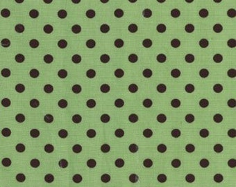 Michael Miller Sage Green Dumb Dots 1 YD (More Available)