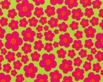 SALE Michael Miller Raspberry Blossoms Knit Fabric 1 yd (More Available)