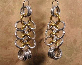 Handmade Chainmaille Earrings - Free Shipping 90309406