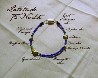 Latitude 75 North Bracelet - Distance Measured in Beads