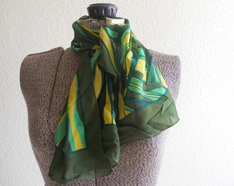vintage groovy abstract silk scarf