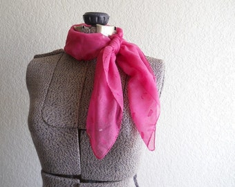 vintage pink textured hand rolled scarf