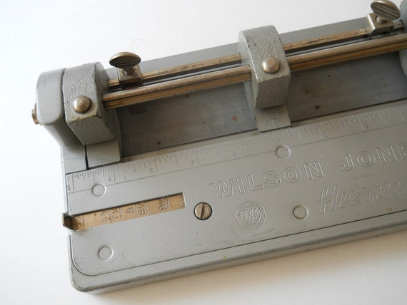 Vintage 3 Hole Punch, by Wilson Jones Hummer Metal
