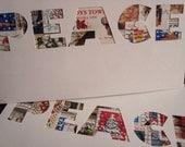 Postage Stamp Christmas Cards - PEACE