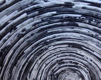 Recycled Magazine Bowl - Shades of Gray